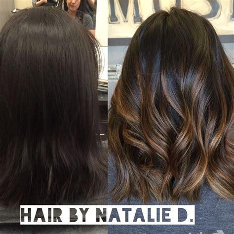 dark hair after 70 balayage before and after dark hair www pixshark com