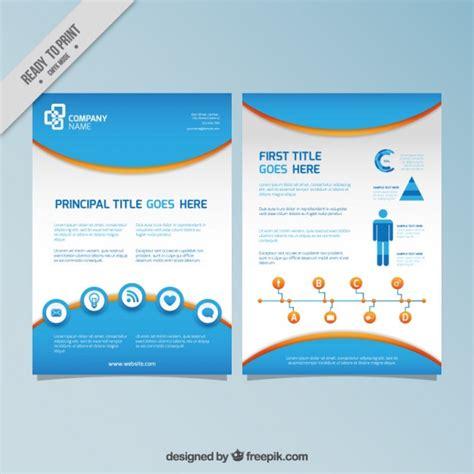 Flyer Vorlage Blau Blau Infographie Flyer Der Kostenlosen Vektor