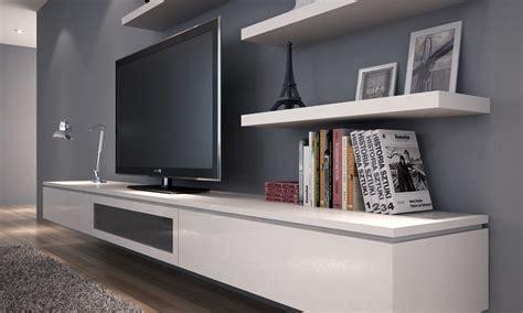 White Floating Tv Cabinet : Style Modern Floating TV