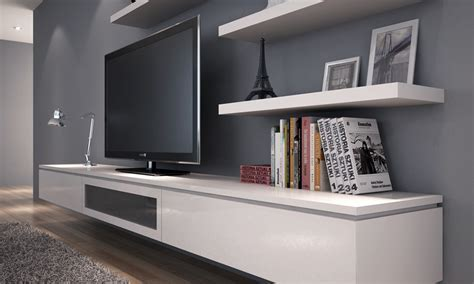 White Floating Tv Cabinet : Style Modern Floating TV