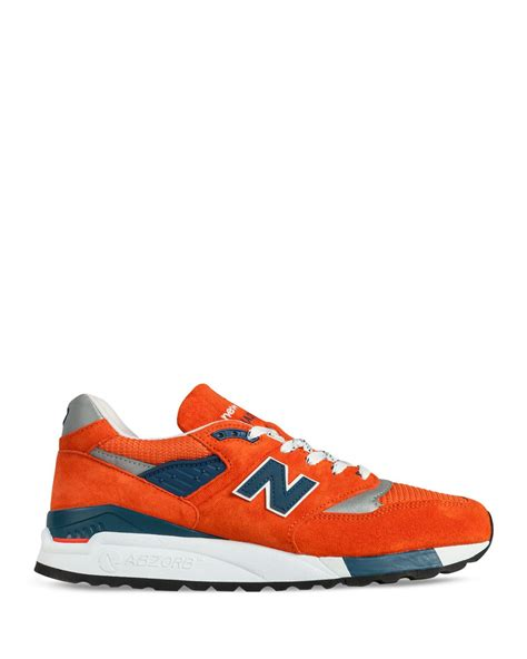 mens sneakers made in usa new balance made in usa 998 sneakers in orange for lyst