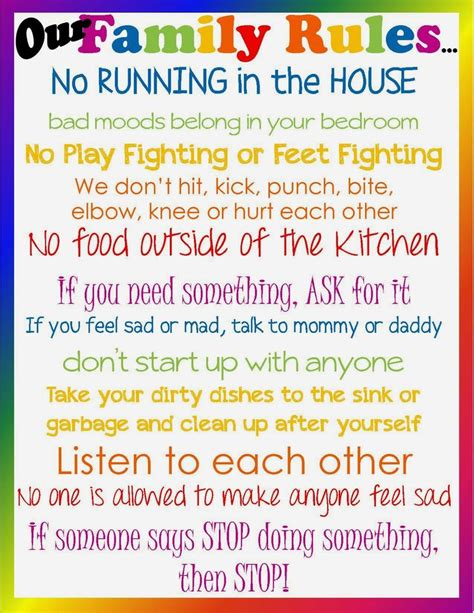 25 best ideas about house rules chart on pinterest