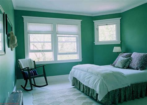 classic green bedroom painting with white classic window