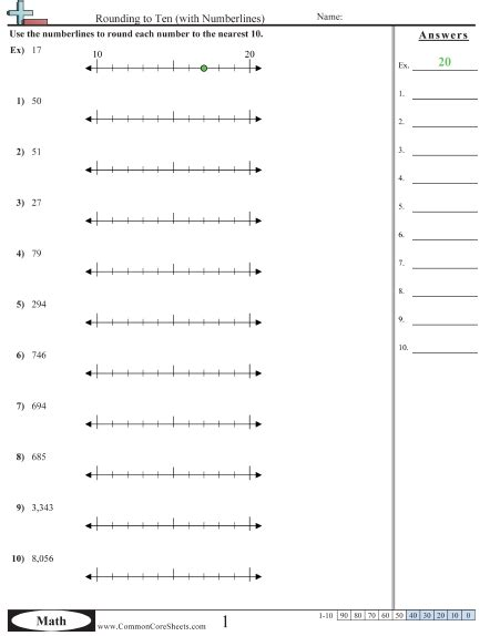 printable number line for rounding printables math rounding worksheets agariohi worksheets