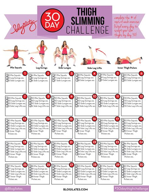 30 day buttlift challenge 30 day ab challenge calendar print out calendar