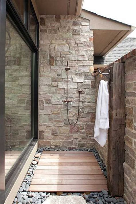 outdoor cing shower ideas best 25 outside showers ideas on pool shower