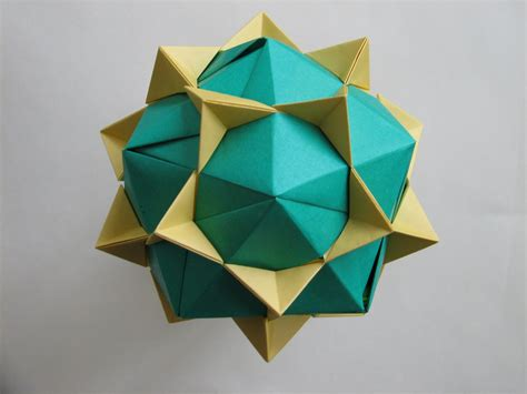 Dodecahedron Paper Folding - dodecahedron from propeller units in tomoko fuse s