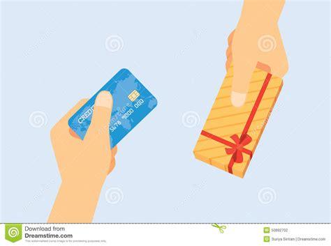 card exchange use credit card exchange to gift stock vector image