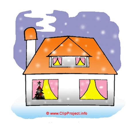 winter clip art house free