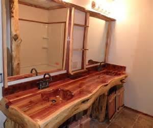 handcrafted handcarved cedar log bathroom vanity 2 300