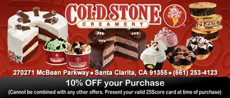 Activate Cold Stone Gift Card - 25score discount card save big with 25score