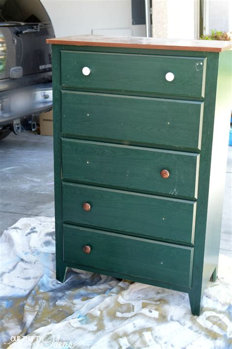 Refinishing Dresser by Gender Neutral Bedroom Decor Dresser Refinish W Folkart