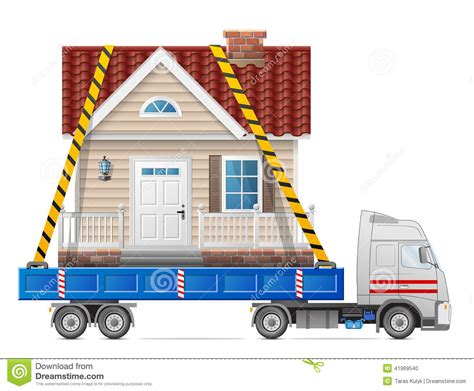 road transportation of house stock vector image 41969540