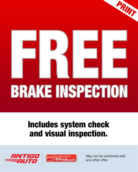 Brake And Light Inspection Cost by Service Center