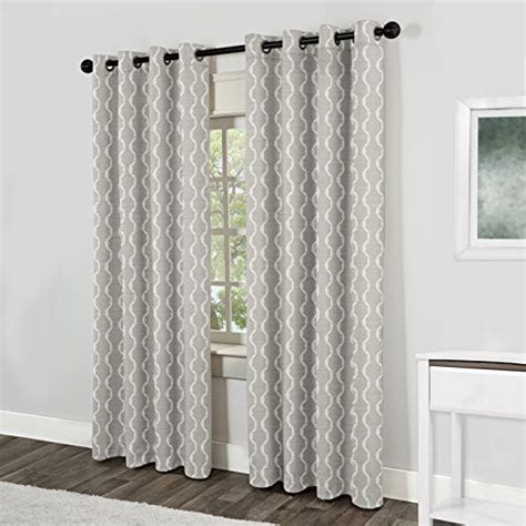 Grommet Kitchen Curtains Exclusive Home Baroque Grommet Top Curtain Panel Pair 96 Quot Dove Grey Exclusive Home Http Www