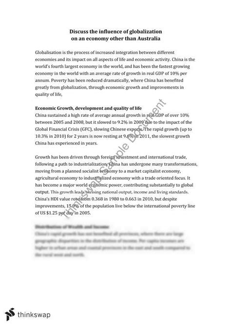 Economic Growth Essay by Essay Economic Growth Year 12 Hsc Economics Thinkswap