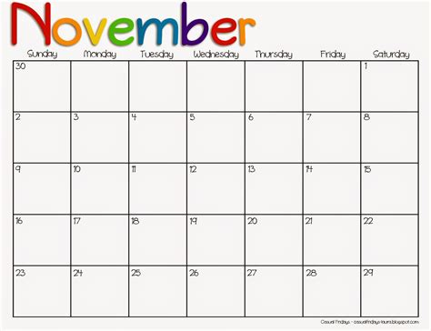 printable calendar november 2015 holidays november 2015 printable calendar for teachers calendar