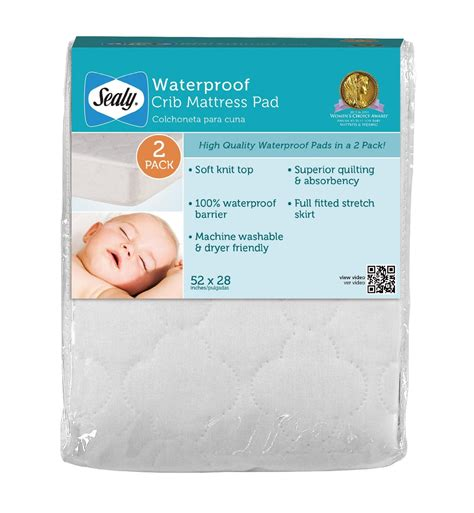 Sealy Baby Snugfit Crib Mattress Pad Sealy Waterproof Mattress Cover White 52 X 28 2 Pack Kitchen Pipeline