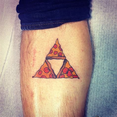 leg piece tattoo 40 traditional pizza tattoos
