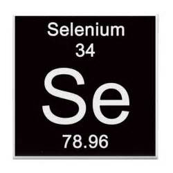periodic table selenium tile coaster by science lady