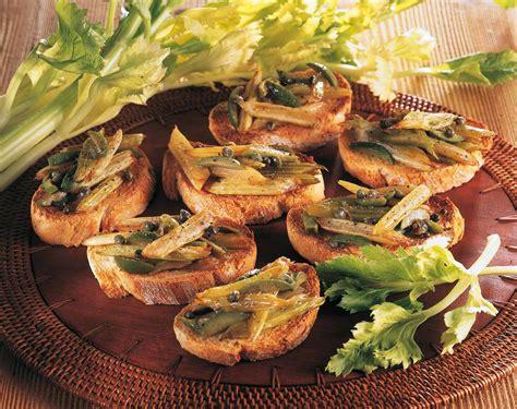 antipasto con sedano crostini con caponatina di sedano cucina naturale