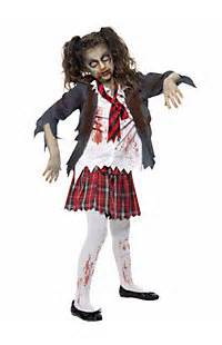 Girls zombie costumes zombie halloween costume for a girl