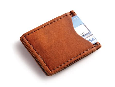 Good House Warming Gifts by Rustic Leather Money Clip In Choice Of High Quality