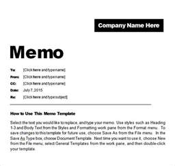 Memo Sle Office Free Memo Templates Word And Excel Excel Pdf Formats