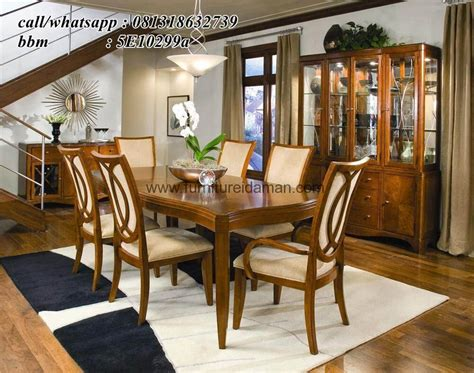 Kursi Meja Makan Minimalis Antik kursi makan set antik minimalis warna coklat furniture