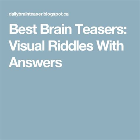 hard riddles with answers 1000 ideas about best brain teasers on pinterest