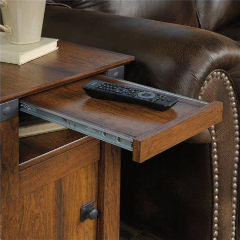 sauder carson forge sofa table washington cherry finish sauder carson forge side table washington cherry finish