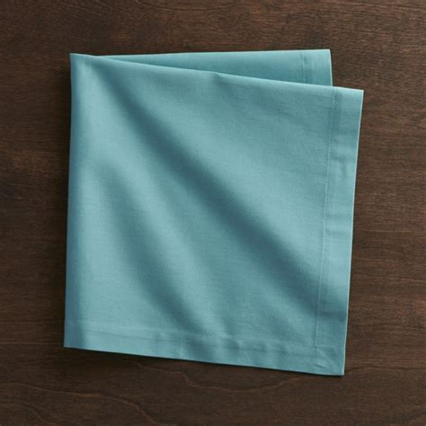 Top Kitchen Cabinets by Fete Aqua Blue Cloth Napkin Crate And Barrel