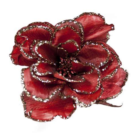 burgundy decorative flower 15cm decorations for