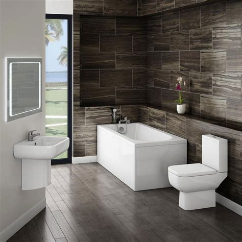 small modern bathroom suite at plumbing uk
