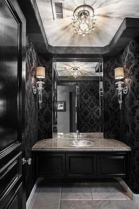 add black   interiors  sophisticated style