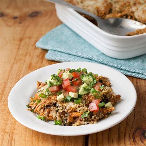 quinoa chicken enchilada casserole recipe eatingwell