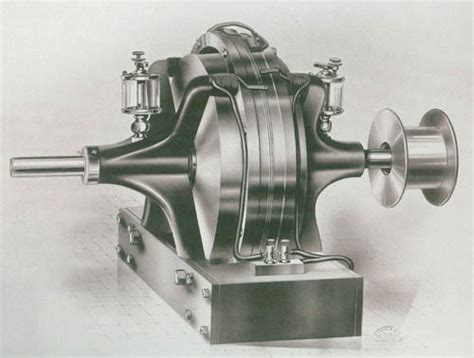 Nikola Tesla Electric Motor Above Alternating Electric Current Generator