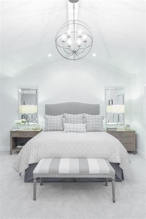 gray bedroom bench gray camelback headboard with striped gray bedroom bench transitional bedroom