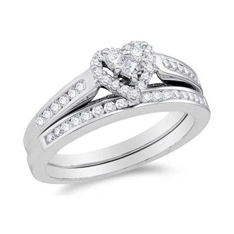 cheap bridal wedding ring sets alluring ring halo cheap wedding ring set 1