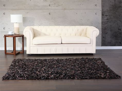Teppich 140x200 by Carpet Brown 160x230cm Shaggy Leather Mut