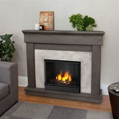 real cascade 50 in cast ventless gel fuel fireplace