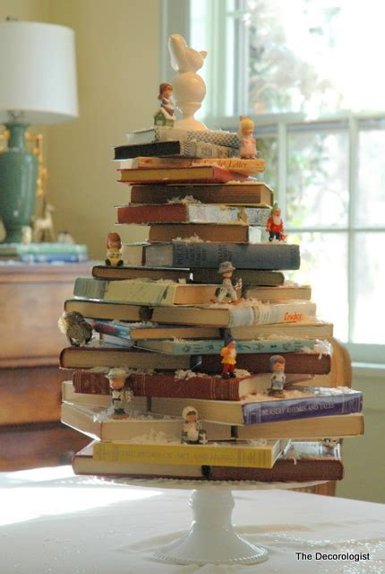 book stacking ideas a book lover s christmas tree the decorologist