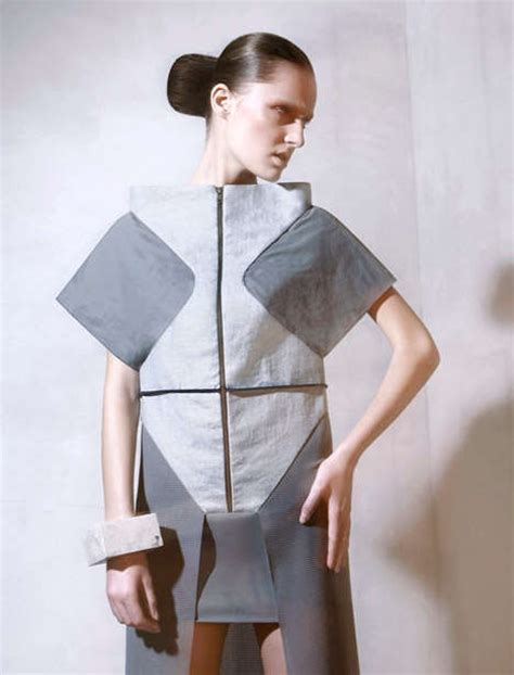 Origami Clothing Brand - sharp origami inspired couture dzhus autumn winter 2013