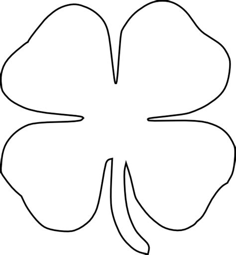 4 leaf clover template four leaf clover clip at clker vector clip