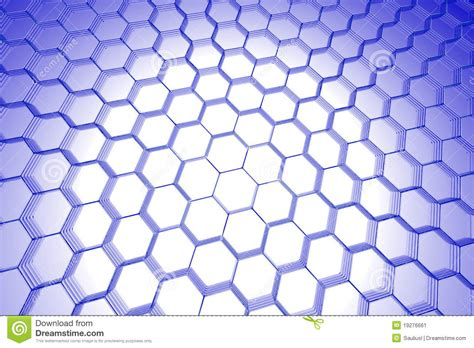 Hexagonal Abstract 3d Background Stock Abstract Hexagon Background 3d Xray Blue Stock