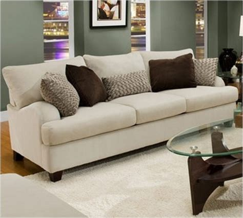 White Sofa Pillows by White Sofa With Brown Accent Pillows Living Room