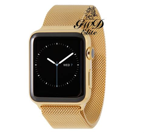 18k gold plated 42mm apple series 3 milanese band limited edition ebay