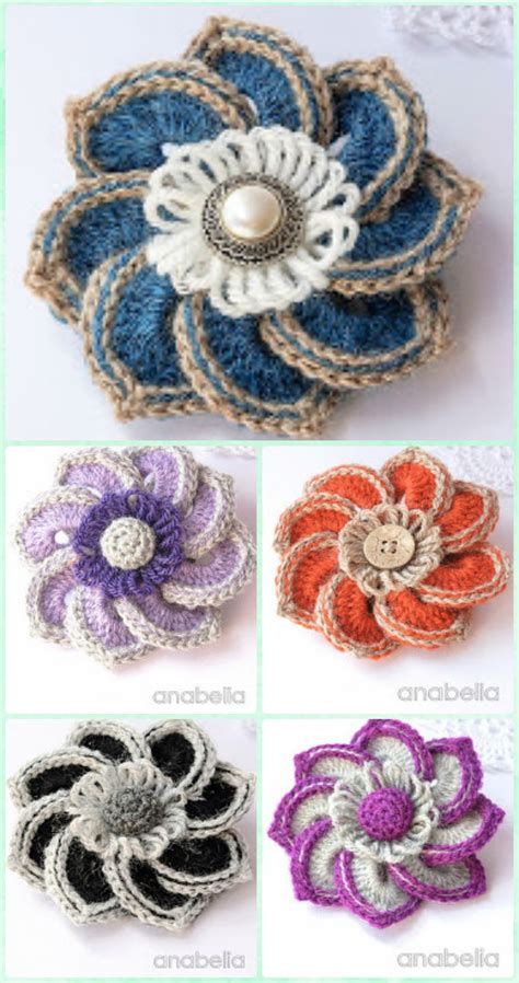 Crochet Motif Patterns Images crochet flower motif pattern www imgkid the image