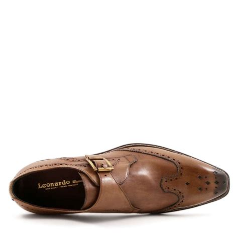 handmade s monk shoes in leather leonardo