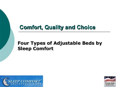 types of comfort types of adjustable beds